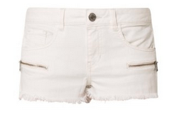 weiße jeans shorts guess