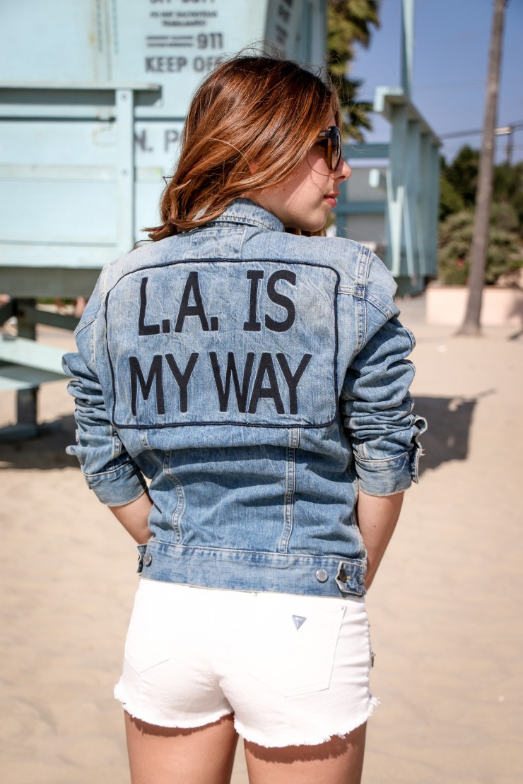 L.A. is my way Jeans Jacket by Guess