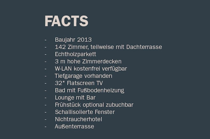 facts bold hotel münchen