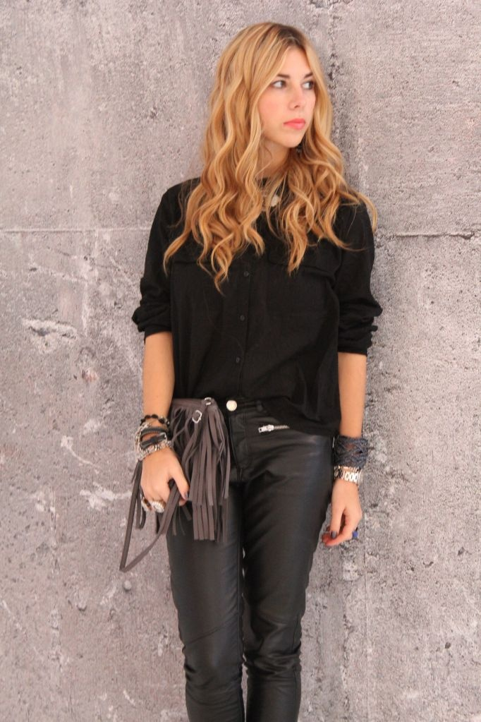 leather pants h&m