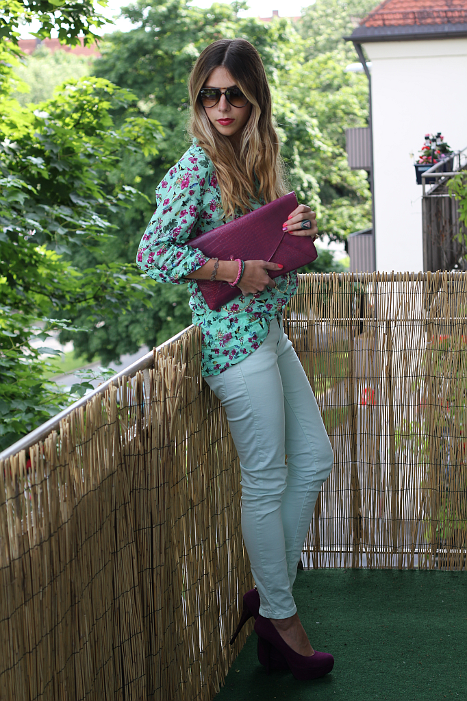 Outfit: Minty Balcony Party