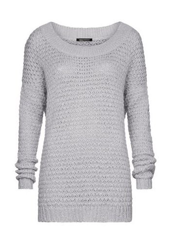 grauer Strick Pullover Expresso Fashion grobstricl